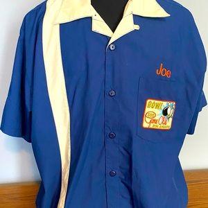 Disney, men's bowling shirt.